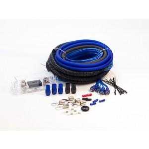 AMP KIT 4 GAUGE MATTE BLUE